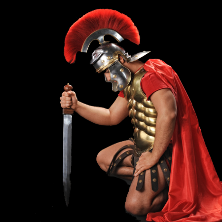 Spartan Warrior Knelt